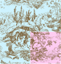 M-7188 Baby Toile Reversible