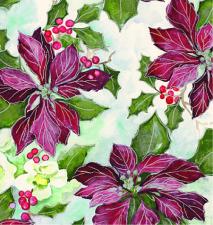 X-5121 Painterly Poinsettias