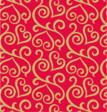 E-4074 Scrolled Hearts