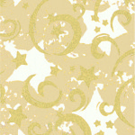 X-4003 Gold Stars and Swirls Kraft