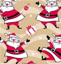 X-4265-Swinging Santa